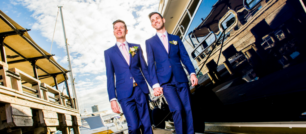Groom & Groom Luxury Yacht Wedding