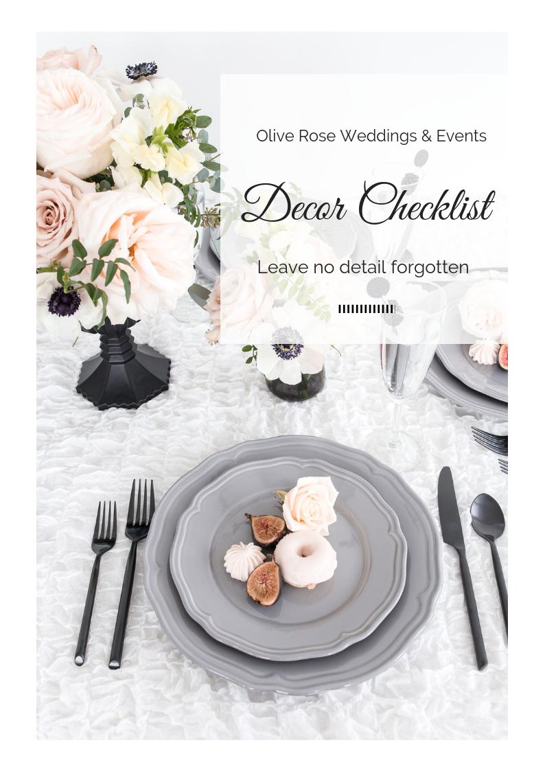 Wedding Decor Checklist.Wedding Decor Checklist Wedding Planner Brisbane Gold Coast