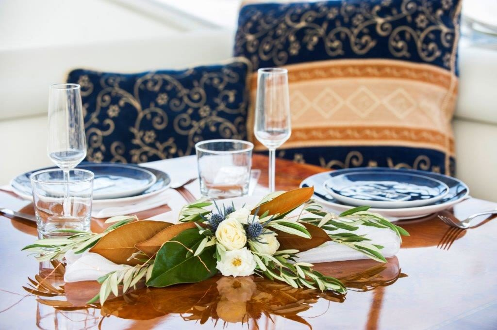 Tying the Knot on a Boat | Luxury Yacht Wedding | Styled Table | Love is Love