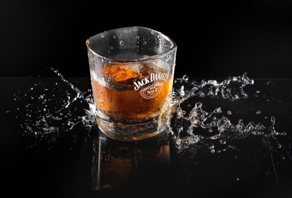 Jack Daniel's whiskey in a glass