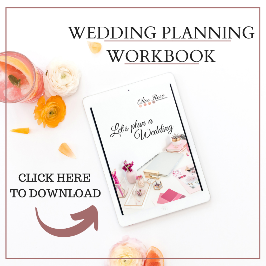 Wedding Planning Workbook I Olive Rose Weddings & Events