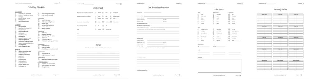 How to Plan a Wedding Workbook