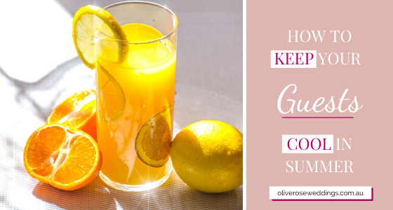 Orange juice - how to keep your guests cool in summer